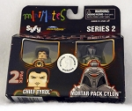 BSG Chief Tyrol & Mortar Pack Cylon Minimates