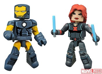 Dark Avengers Iron Man & Black Widow Walgreen's Exclusive Minimates