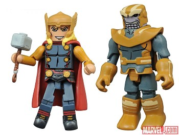 Dark Avengers Thor & Thanos Walgreen's Exclusive Marvel Minimates