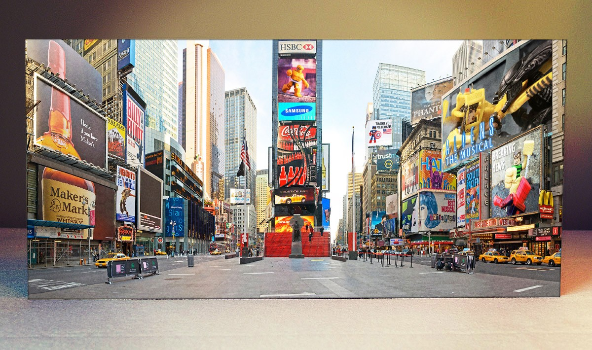 Striking Backdrops: Times Square (with optional back stand)