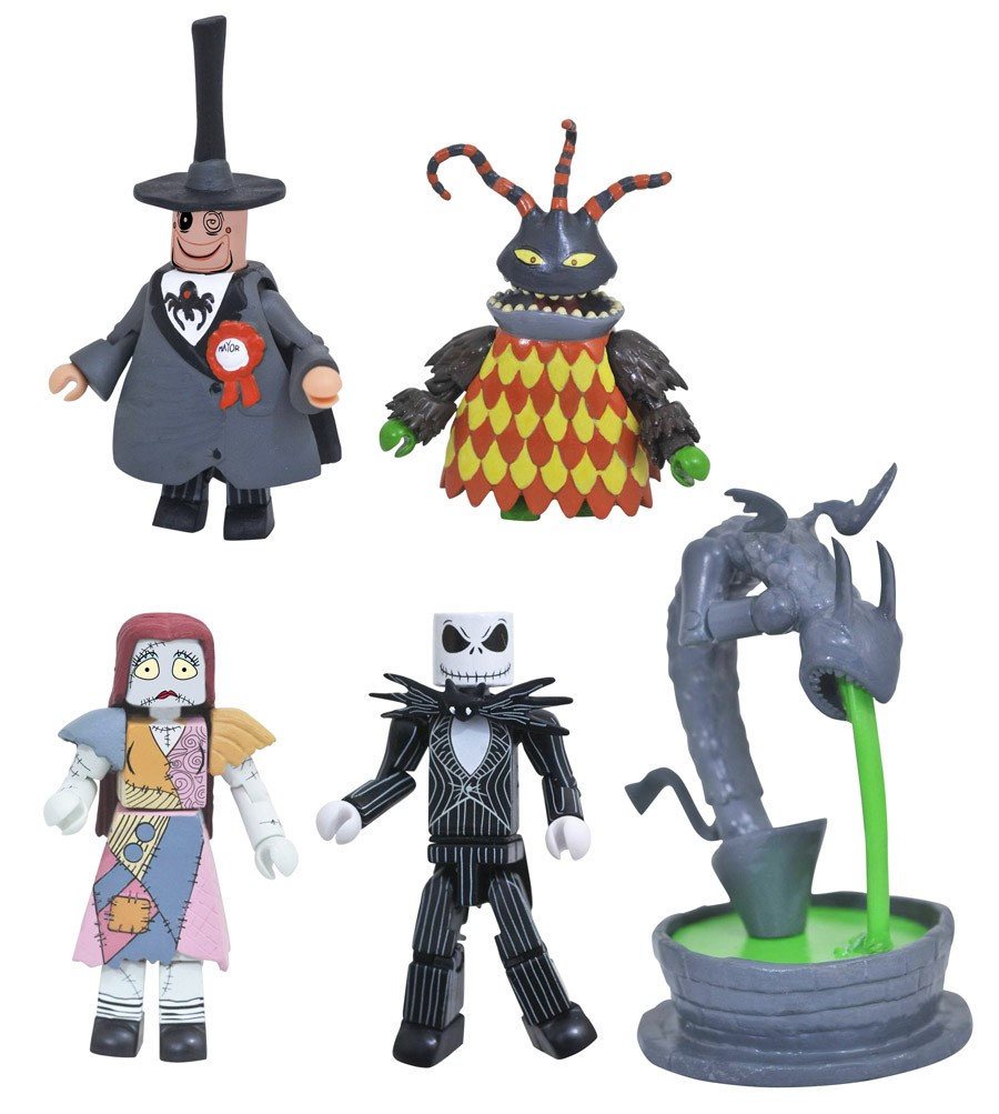 Town Hall Fountain Nightmare Before Christmas Minimates Box Set
