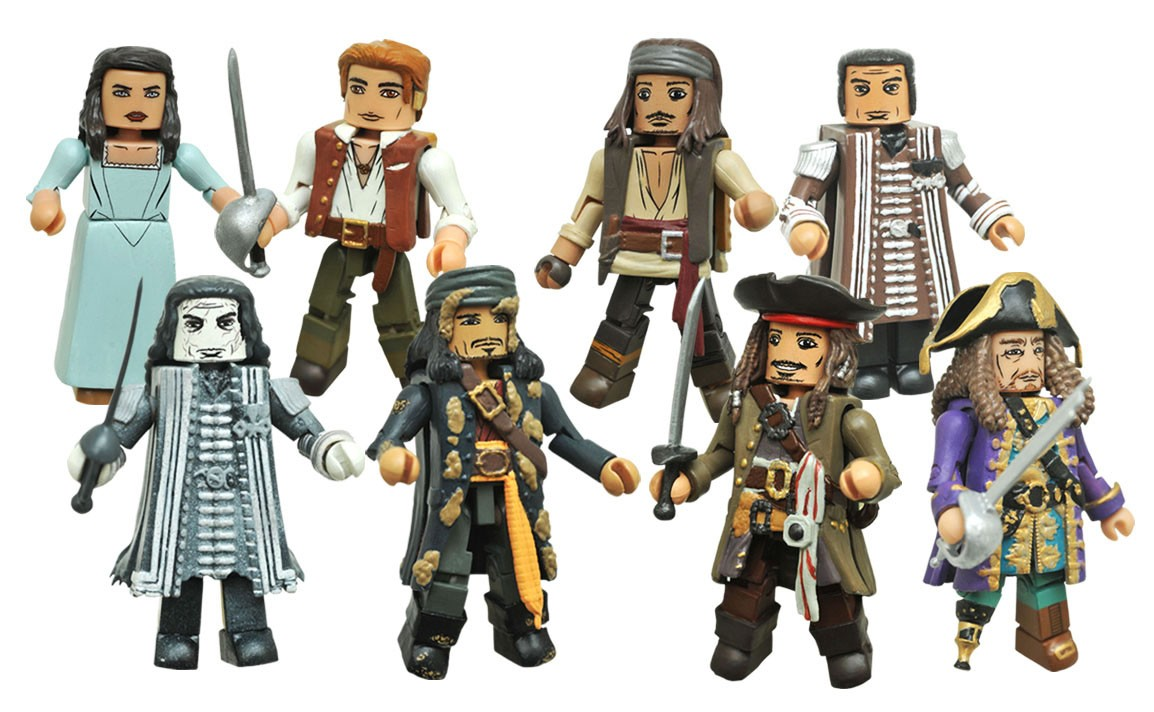 Pirates of the Caribbean: Dead Men Tell No Tales Minimates Full Set of 8