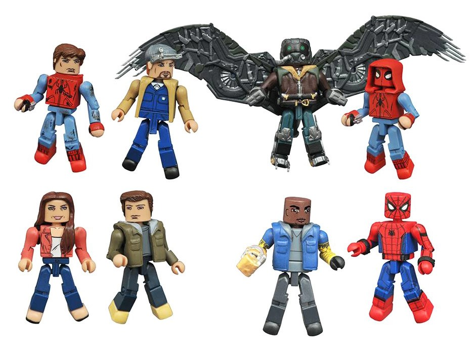 Marvel Minimates Series 73: Spider-Man Homecoming Full Set of 8