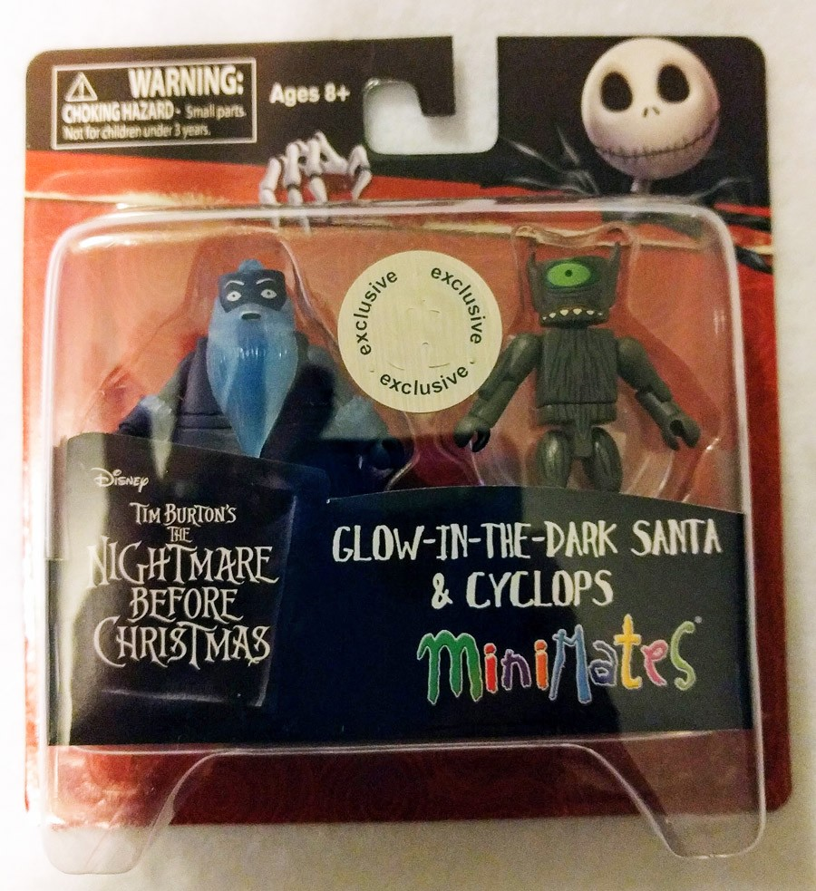 Glow-in-the-Dark Santa & Cyclops TRU Nightmare Before Christmas Minimates