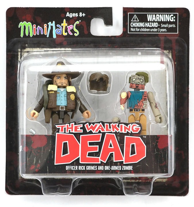 Rick Grimes & One Armed Zombie Walking Dead Minimates Series 1