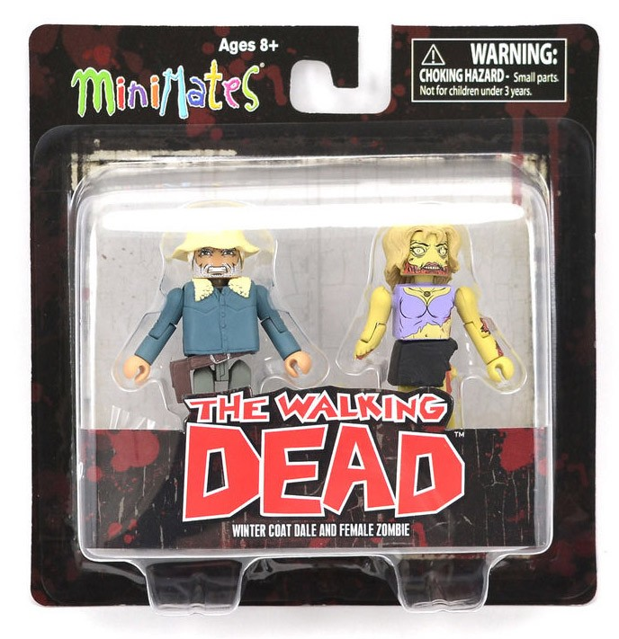 Winter Coat Dale Variant & Female Zombie Walking Dead Minimates Series 1