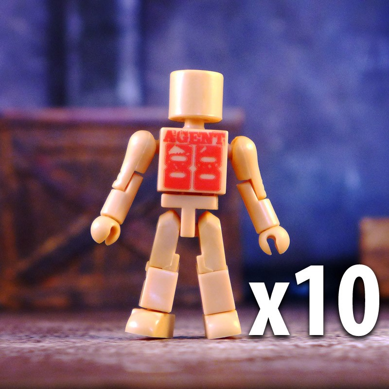 LTS Exclusive Flesh Colored Agent 88 Promo Minimates x 10