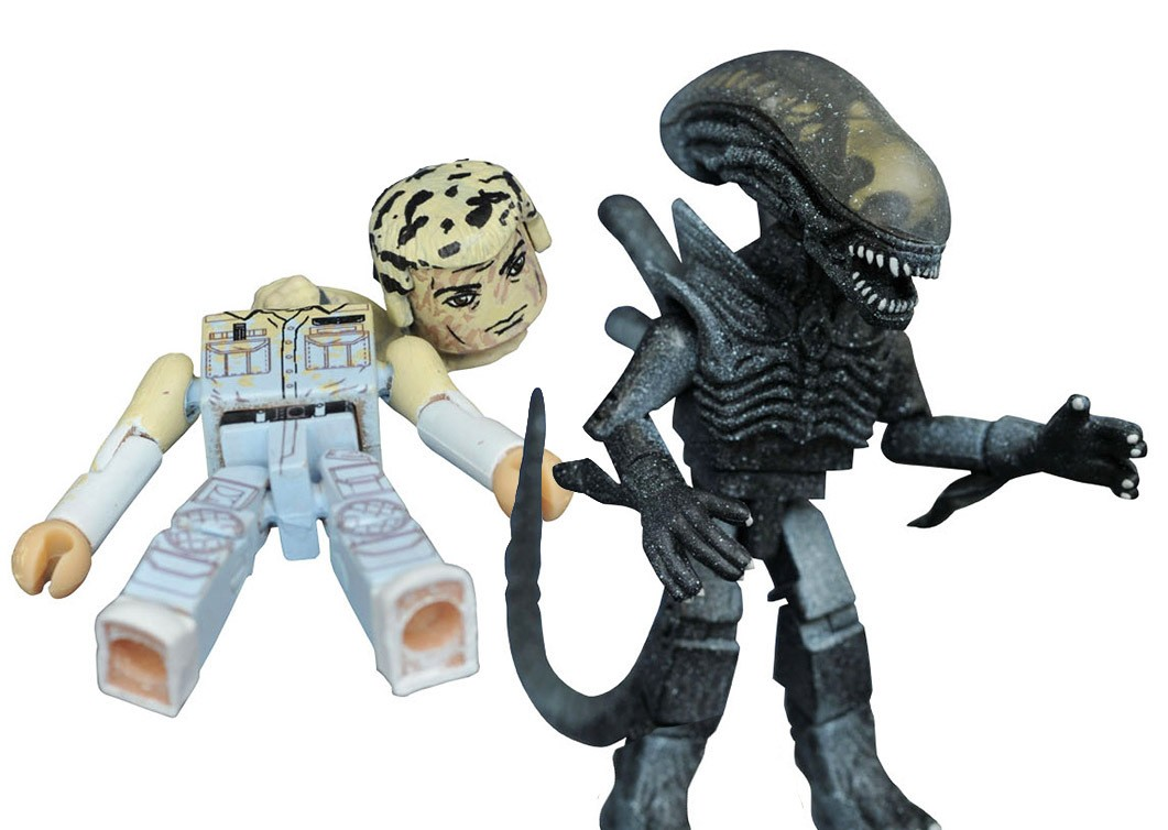 Frozen Alien & Battle-Damaged Ash Aliens Minimates Variant Set