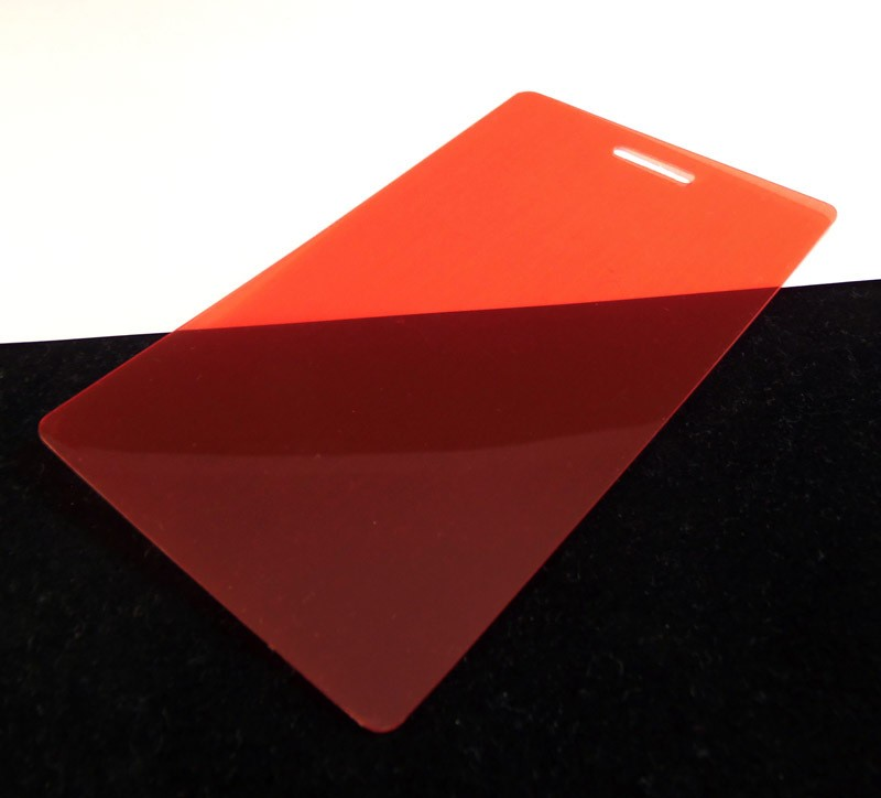 Red Translucent Colored Plastic Sheet for Customizing