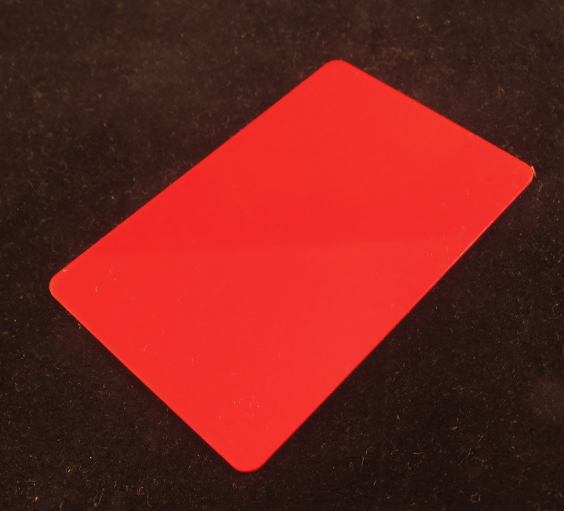 Red Colored Plastic Sheet for Customizing
