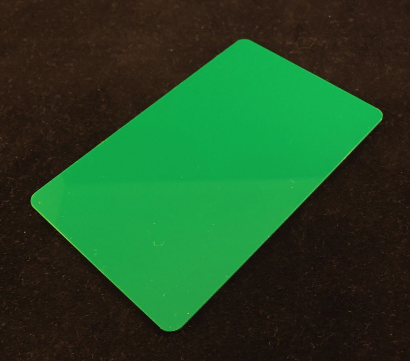 Green Colored Plastic Sheet for Customizing