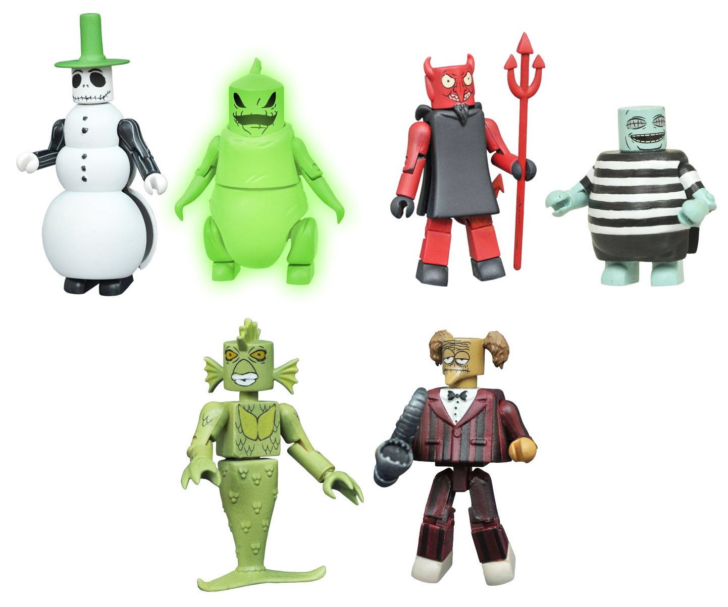 Free Comic Book Day Nightmare Before Christmas: Nightmare Before Christmas Minimates Series 4 Full Set Of 6