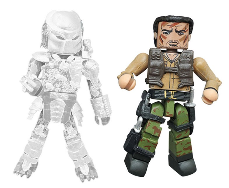 First Appearance Dutch vs. Cloaked Jungle Predator Minimates
