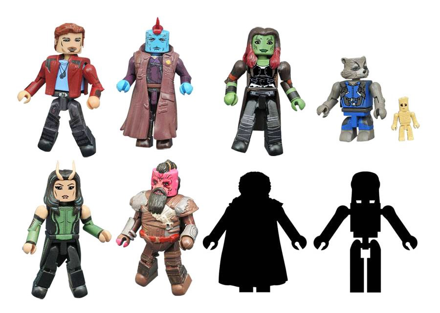 Marvel Minimates Series 71: Guardians of the Galaxy 2 Full Set of 8