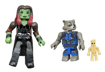 Gamora & Groot & Rocket Guardians of the Galaxy 2 Minimates