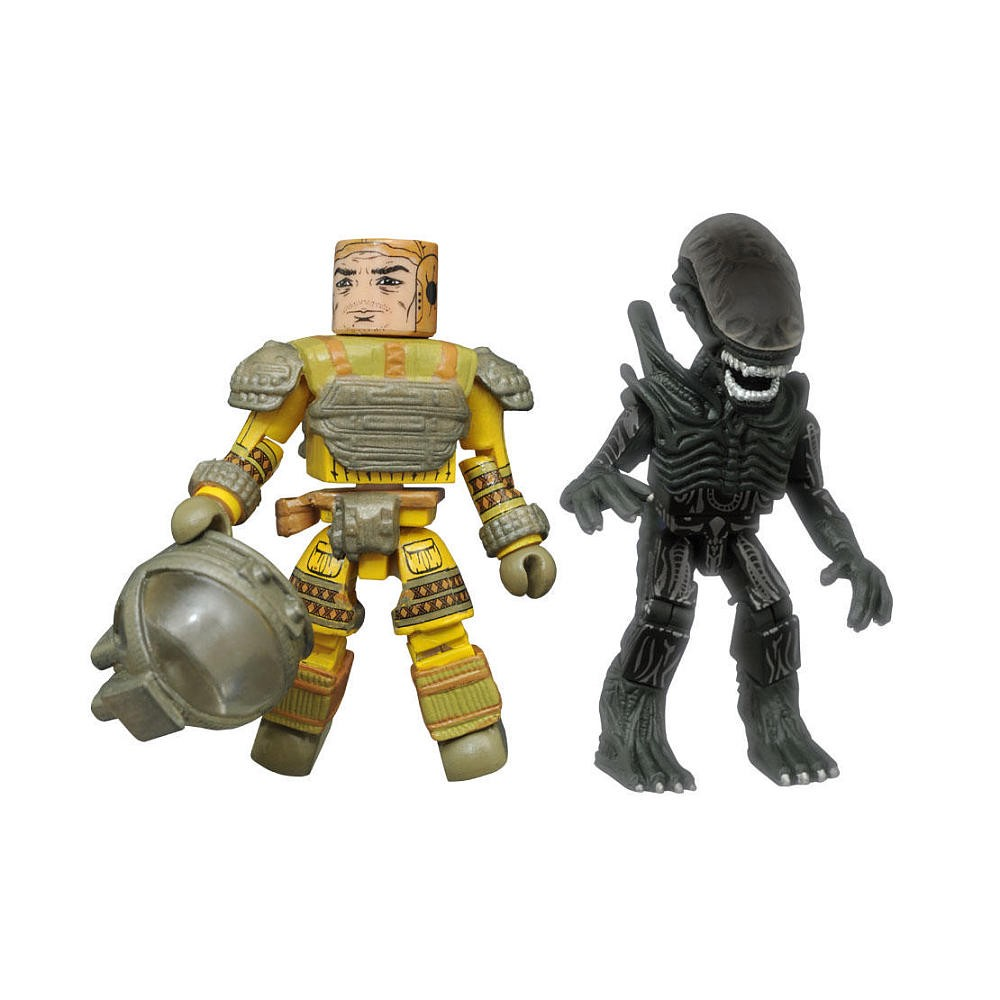 TRU Exclusive Space Suit Kane and Phantom Xenomorph Alien Minimates