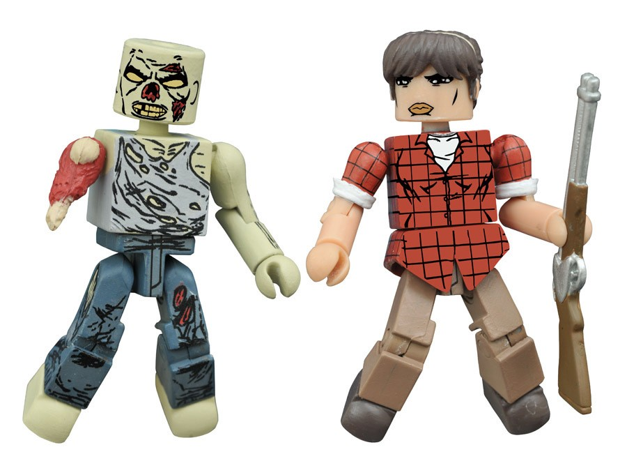 Hilltop Leader Maggie & Forest Zombie Walking Dead Minimates Variant