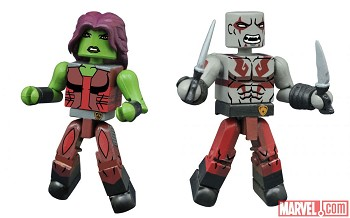 Animated Drax & Gamora Walgreen's Exclusive Marvel Minimates