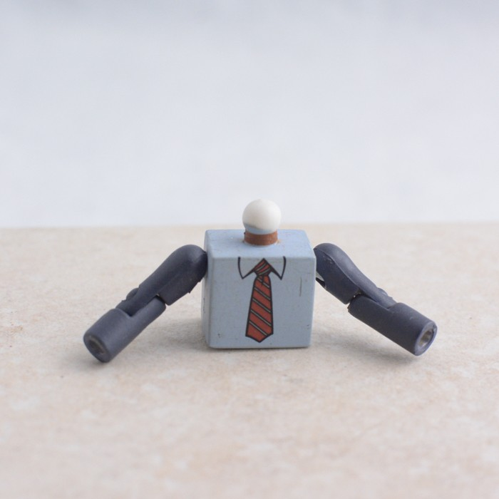 Blue Torso with Tie and Grey Arms