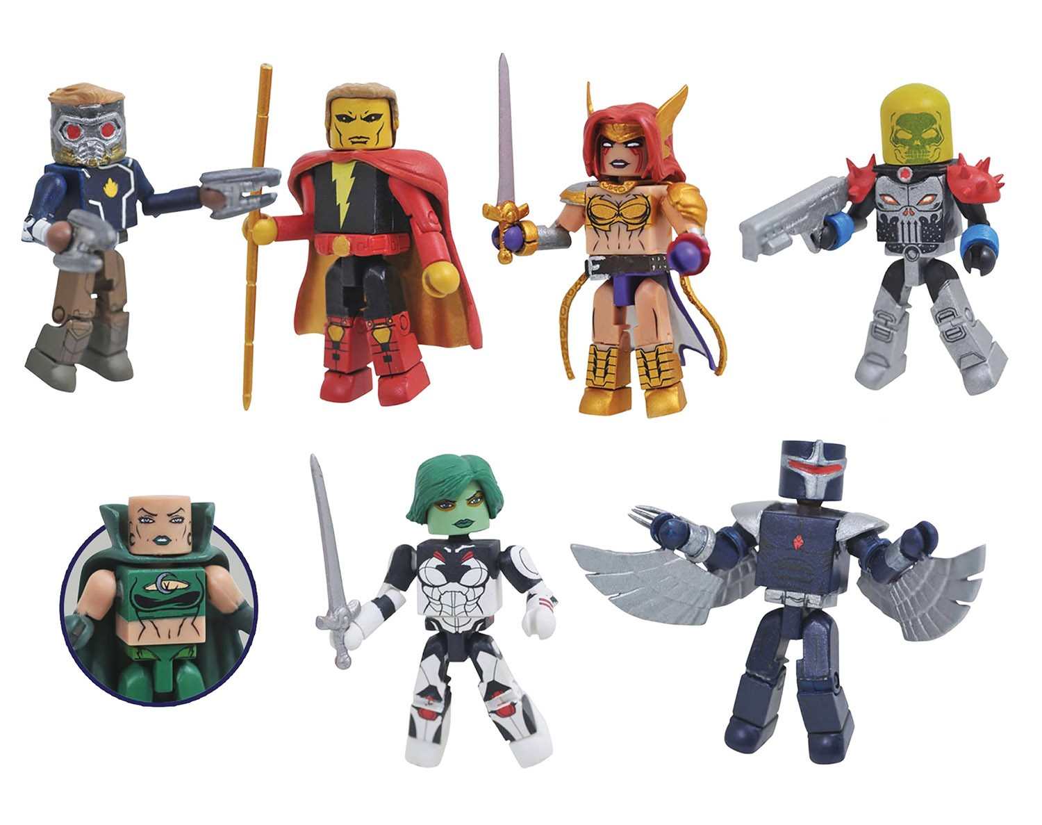 Marvel Minimates Series 79: Guardians of the Galaxy Full Set of 7