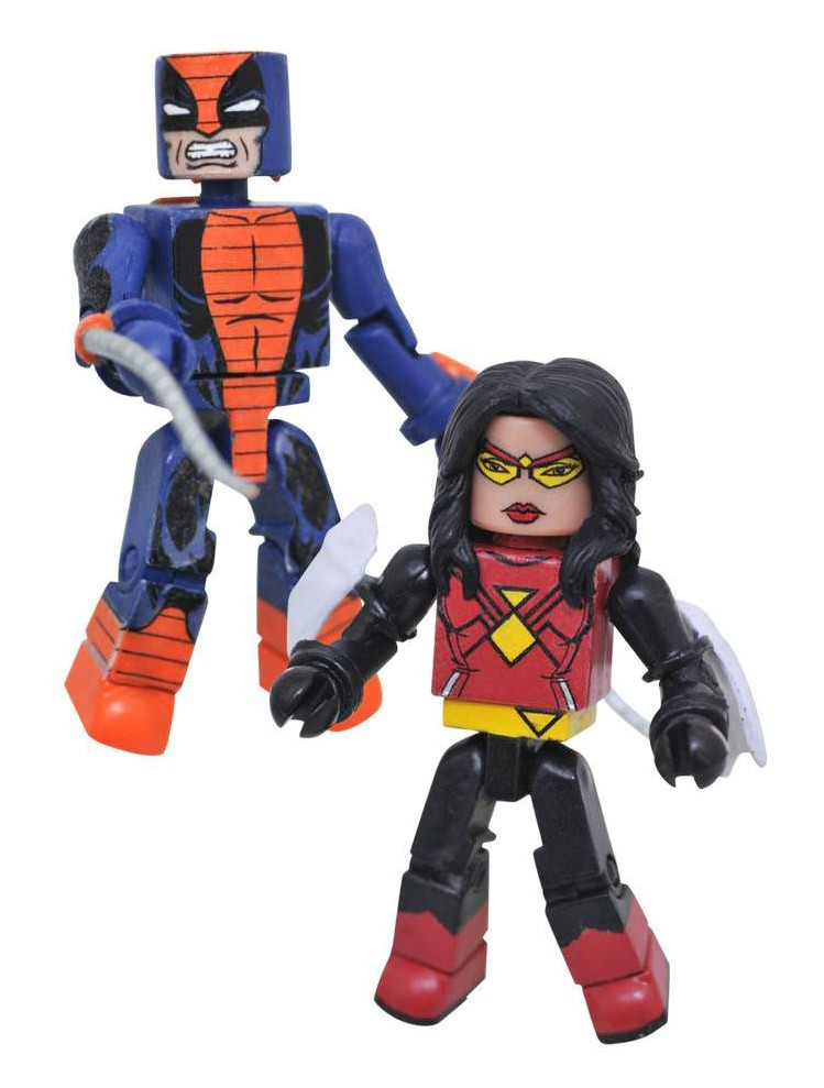 Spider-Woman & Constrictor Minimates