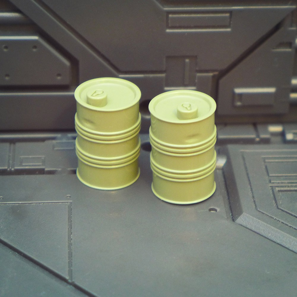 Small Green Barrel Set of 2